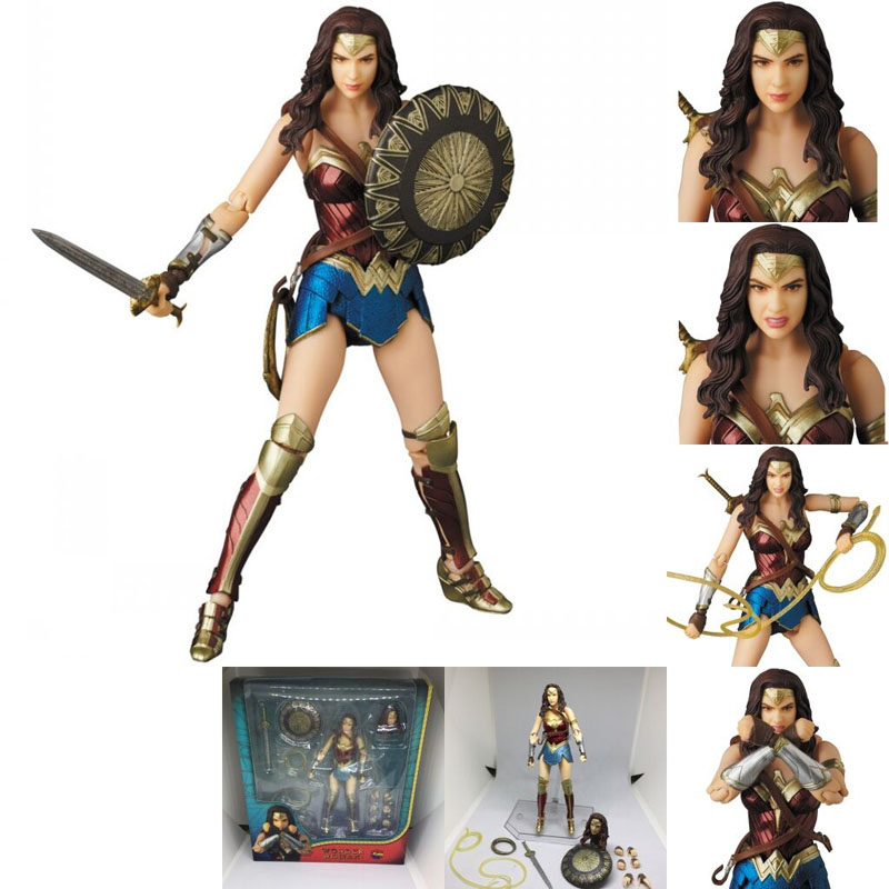 DC Justice League Super Hero MAFEX MAF Batman 056 Flash 058 Wonder Woman 048 Superman 057 Spiderman 047 Action Figure Toy Doll (33)