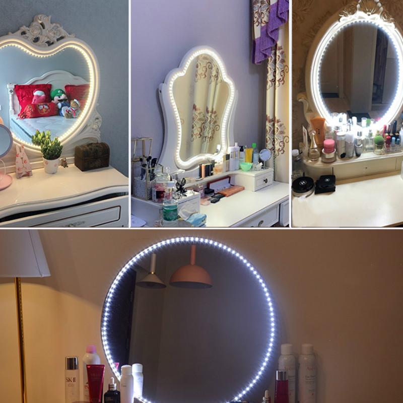 contr/ôle Tactile WAYKING Miroir de Maquillage Lumineux Hollywood avec lumi/ères LED Grand Miroir cosm/étique avec 15 Ampoules et Plateau de Table Blanc