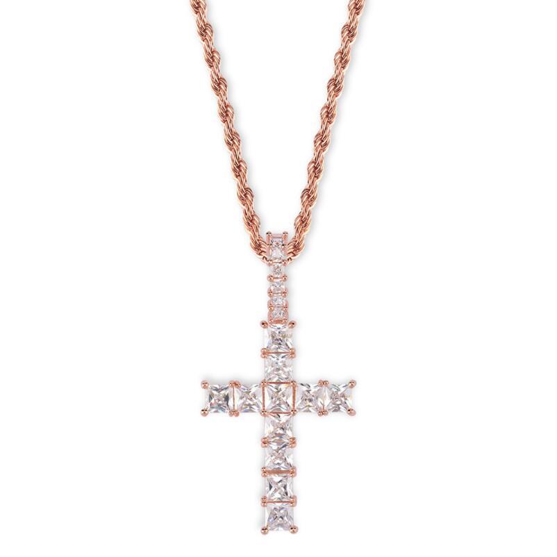 Eglise prêtre Prière Collier Longue Chaîne De Perles Pendentif Croix Collier Bijoux