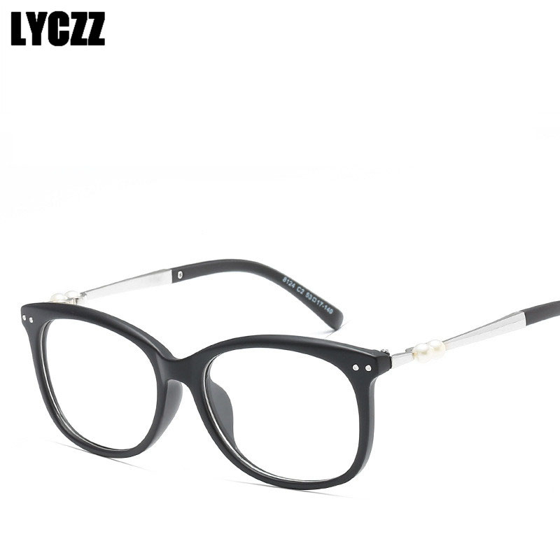 Frauen Brillen Rahmen Katzenauge freie Objektivdamen-Augen-Gläser,.pro Deko