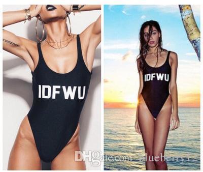 One Piece Bikinis Sexy Carta de Mujeres Impreso Swinwear Bikinis Backless traje de baño Verano Beach Wear Eur Us Tamaño