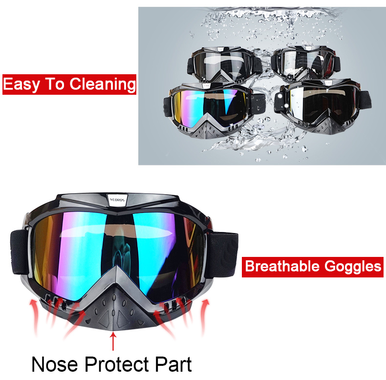 New Vcoros brand Gafas motorcycle goggles helmet glasses moto helmets glasses masque motocross goggles ski windproof eyewears (9)