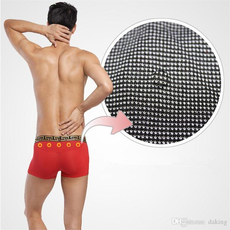 Men Health Care Energy Underwear Red Black Sexy Boxer Russia Brave Strong Youth New Fashion Trend Modal Patchwork Polka Dot Mosaic Magnet