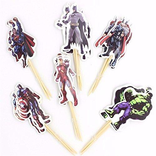24pcs-The-Avengers-Cake-Topper-Superheros-Cupcake-Picks-Boy-Children-Party-Kid-s-Birthday-Party-Cake