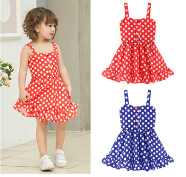 Toddler Kid baby girl robe d/'été Cartoon à Rayures Imprimé Party Princesse Robe