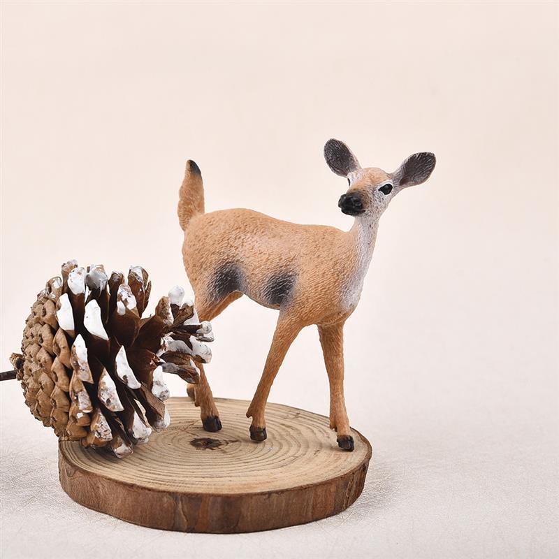 Artificial Mini Sika Deer Animal Miniature Figurines Toys Fairy Garden Miniatures Home Decor Gift For Kids C19041601
