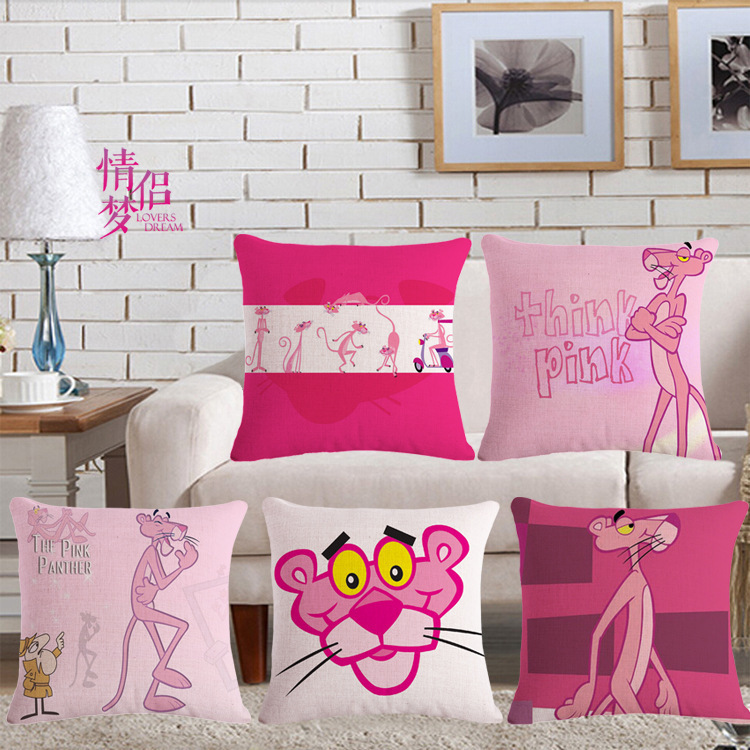 Pink Leopard Ebay Amazon Cotton Flax Pillow Back Cushion Loose Coat Can Customized