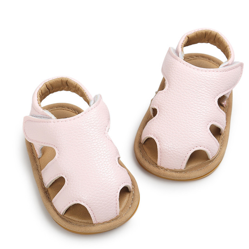 3 Color Summer Fashion Toddler Infant Kids Baby Boys Girls Solid Sandals Casual Anti-slip Soft Sole Shoes Sneaker M8Y02 (20)