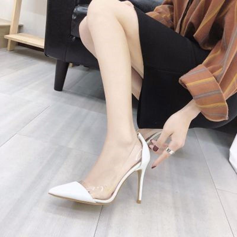 2019 sivri stiletto bayanlar tek ayakkabı yaz yeni sığ ağız vahşi yüksek topuklu