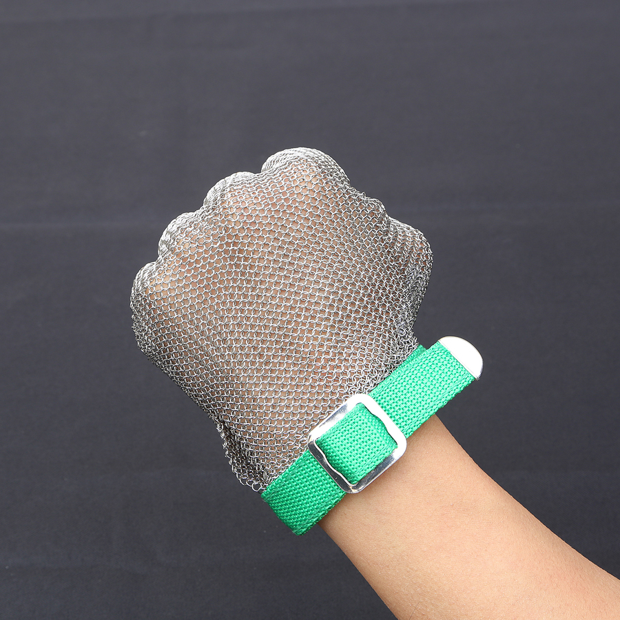 304L Stainless Steel Mesh Knife Cut Resistant Chain Mail Protective Glove for Kitchen Butcher Working Safety Gloves