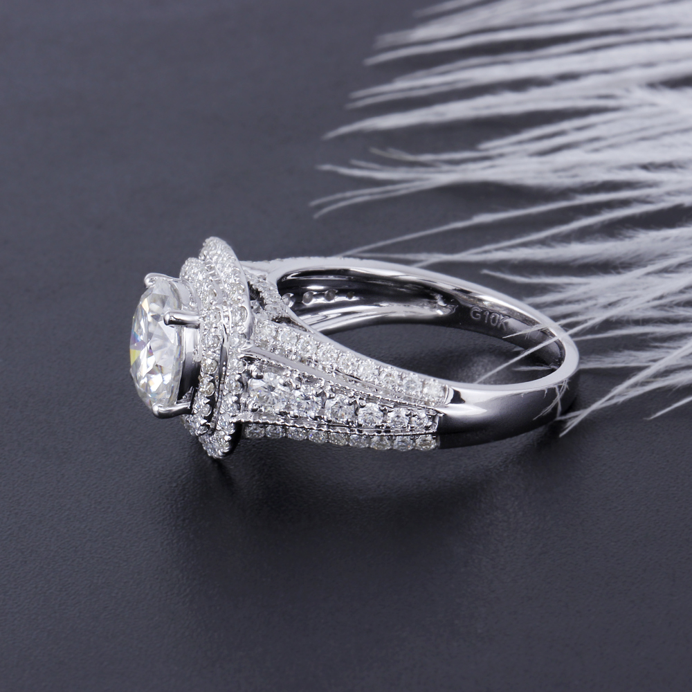 moissanite double halo engagement ring (3)