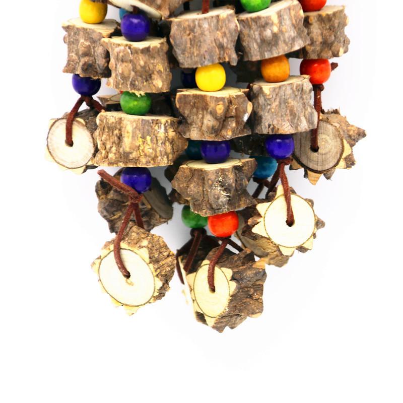 Aves Juguetes Chino Fresco Espinoso Mordedura de Madera Colgante Grande Medio y Pequeño Loro Amazon Máquina de Fresno Alpinia Oxyphylla A Molar Juguetes Dentales