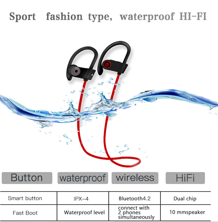 2 U8-Stereo-Wireless-earbuds-Active-Noise-Cancelling-Bluetooth-Headphones-BT-4-2-Waterproof-Headphone-Earphone