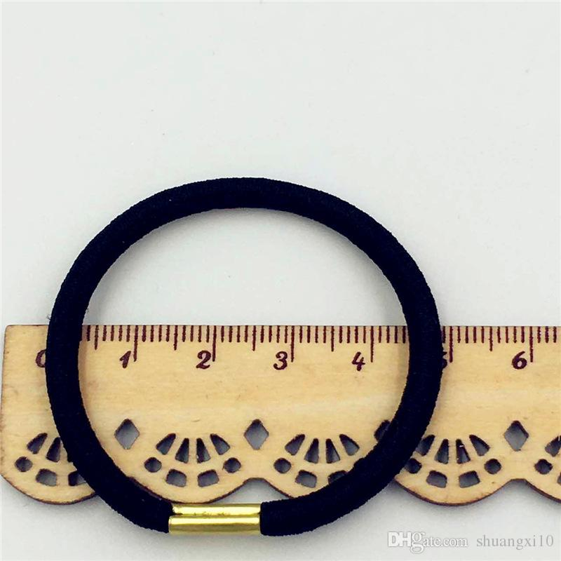 Black And Candy Colored Rubber Hair Band Women Elastic Hair Bands For Girls Hair Accessories