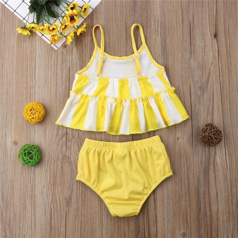Lovely Girls Swimwear Summer Kids Swimsuit Children Bikini Set Swimming Costume Girls Beachwear High Waist Swim Wear Clothes Set