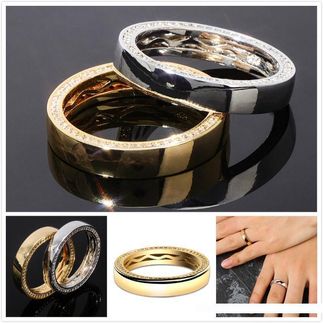 Bling Jewelry Placcato Oro tungsteno Matrimonio Banda 4/mm