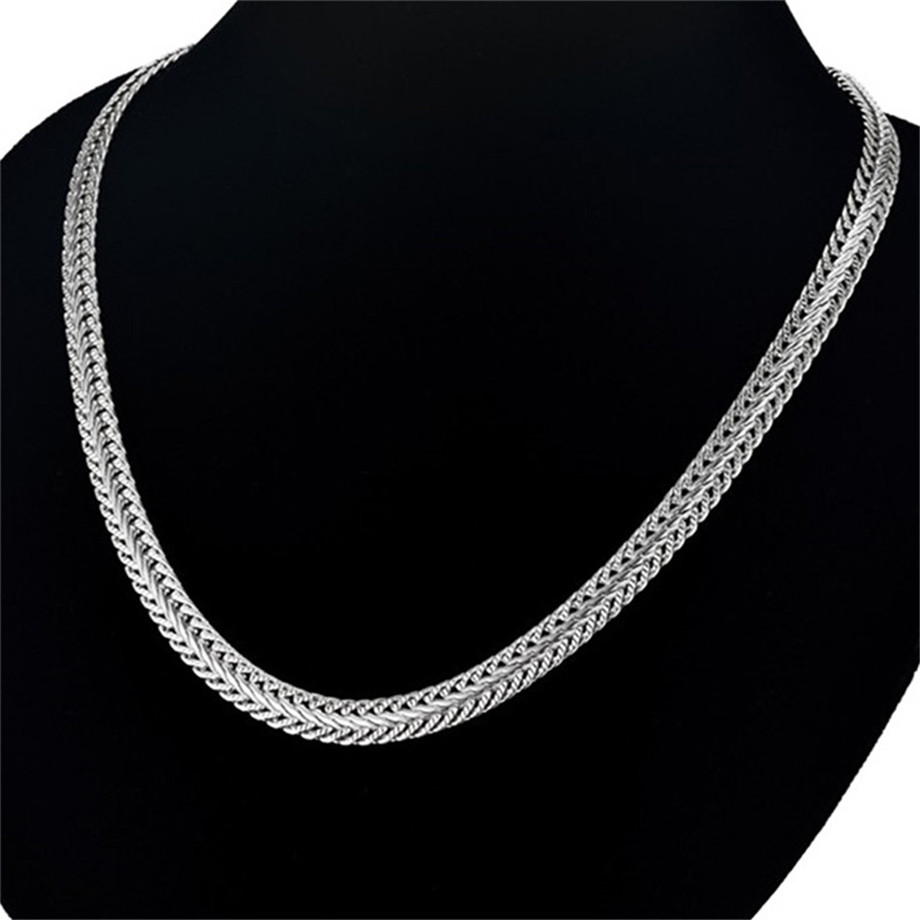 61cm 6mm Stainless Steel Unisex Silver Necklace Snake Chain