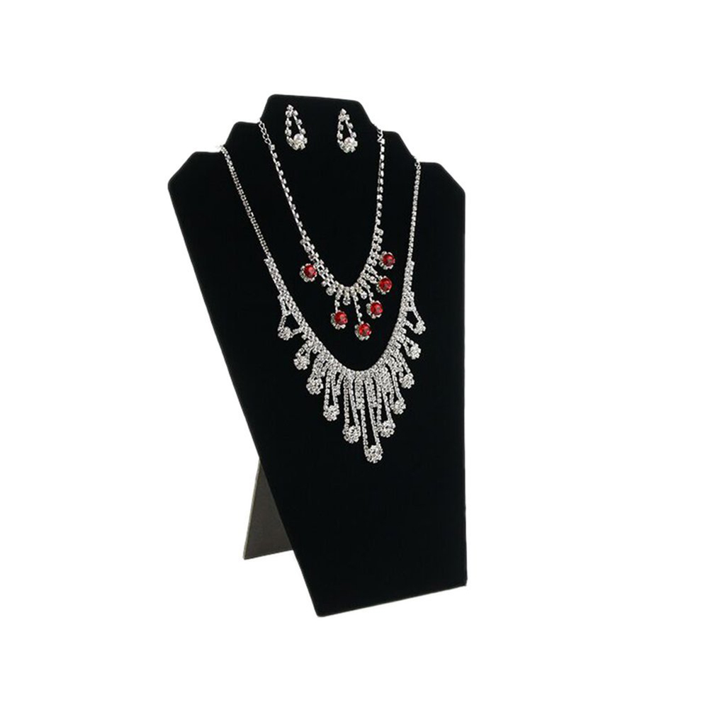 Black Jewelry Necklace Display Stand Neck Chain Holders Jewelry Bust Stands Size Middle