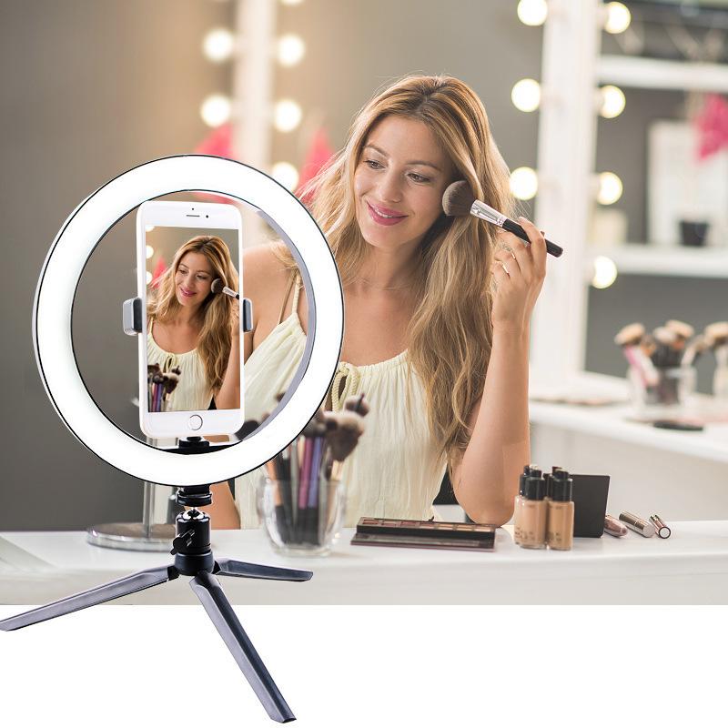 Photography-LED-Selfie-Ring-Light-16-26cm-Dimmable-Photo-Studio-Light-With-Mini-Tripod-USB-Plug