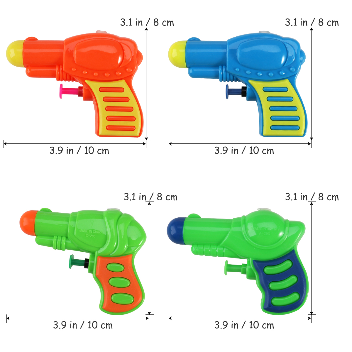 Colorful Water Guns Plastic Water Squirt Toy For Kids Watering Game Random Color