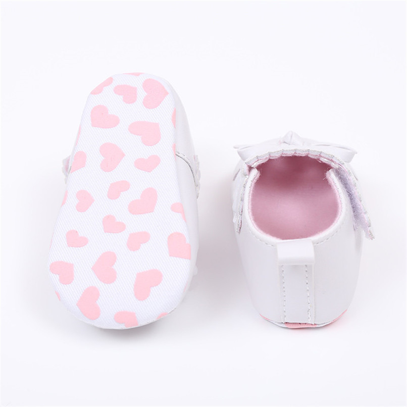 FashionNewborn Infant Baby Girls Crib Shoes Soft Sole Anti-slip Sneakers Bowknot Shoes NDA84L16 (13)
