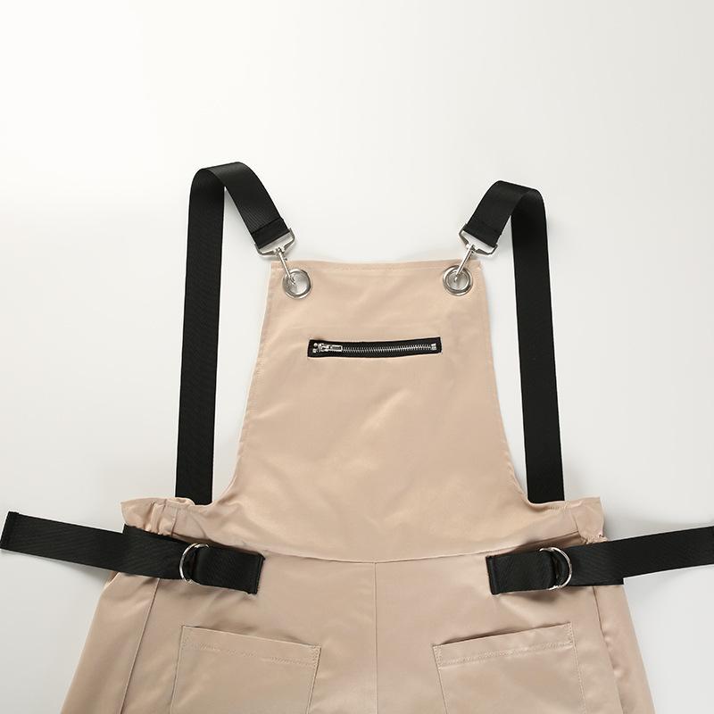 Aonibeier Solid Multi-pocket Casual Romper Jumpsuit Long Women Sleeveless Backless Playsuit Summer Female Korean Style Overalls MX190726