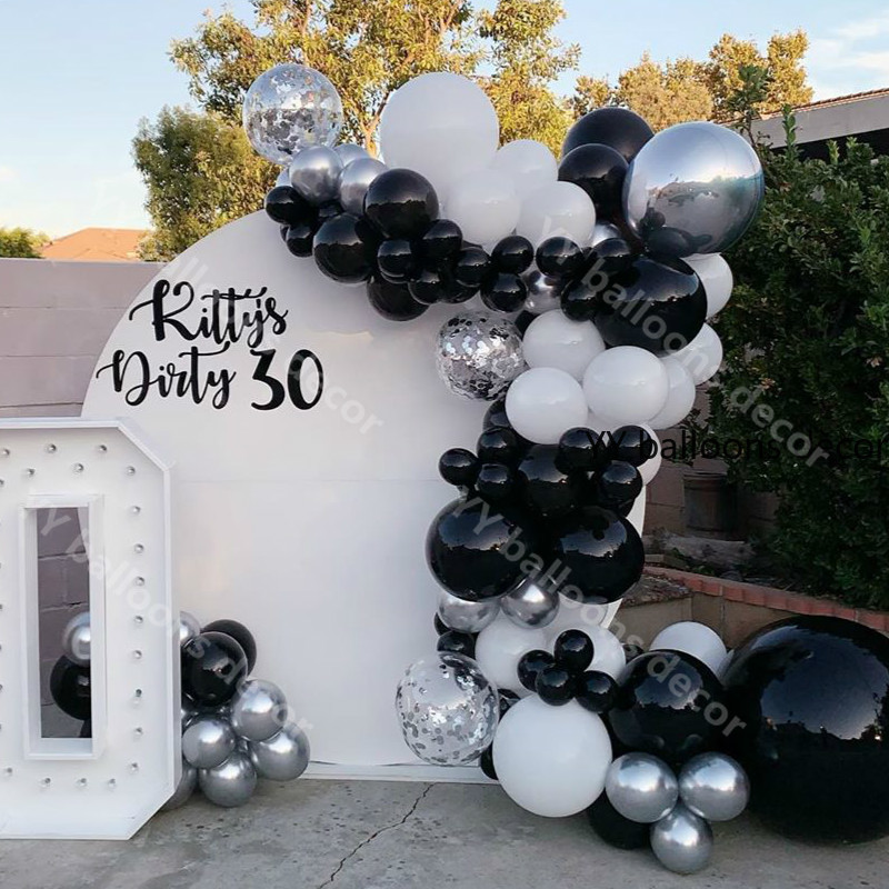 Black And White Baby Shower Decorations  from www.dhresource.com