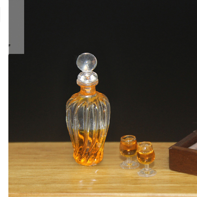 6pcs miniatura casa de muñecas mini botella de vino modelo simulación Juguetes