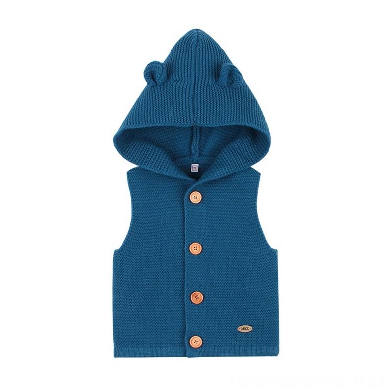 Little Girls Sleeveless Knit Cartoon Fox Pullover Sweater Sweatshirt Vest