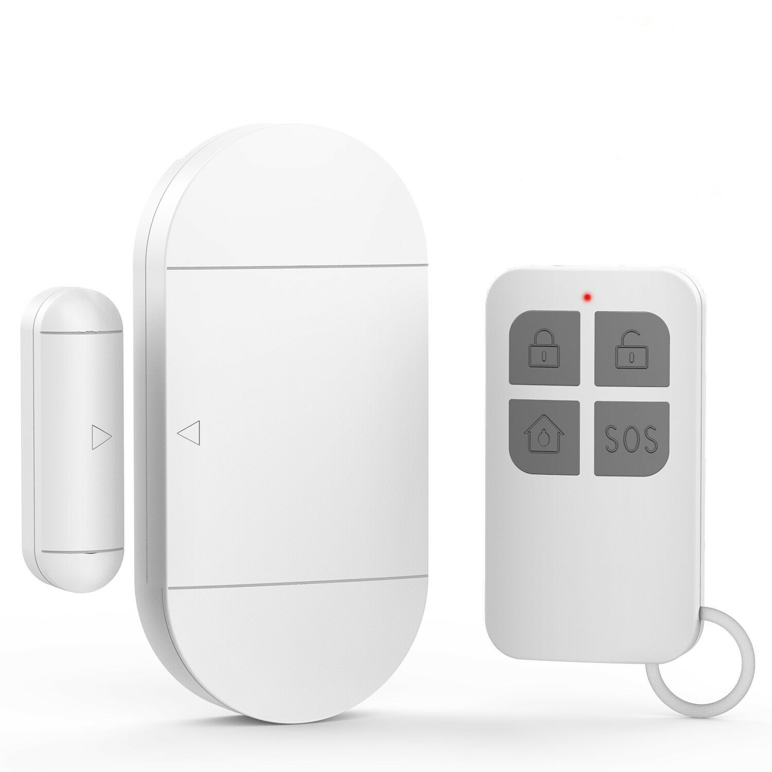 Wireless Dual Entrance Door Chime Push Bell White//Grey Plug In 100m Range