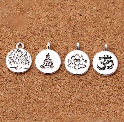 10//50pcs Argent Antique Soleil Lune Charms pendentif pour bijoux Making 27x20mm