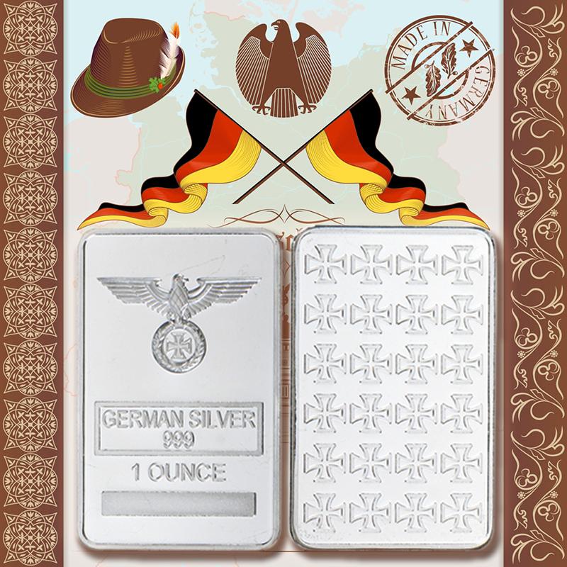 New Eagle ala alemán Segunda Guerra Mundial Hierro Cruz Colgante Collar góticos De Acero Inoxidable