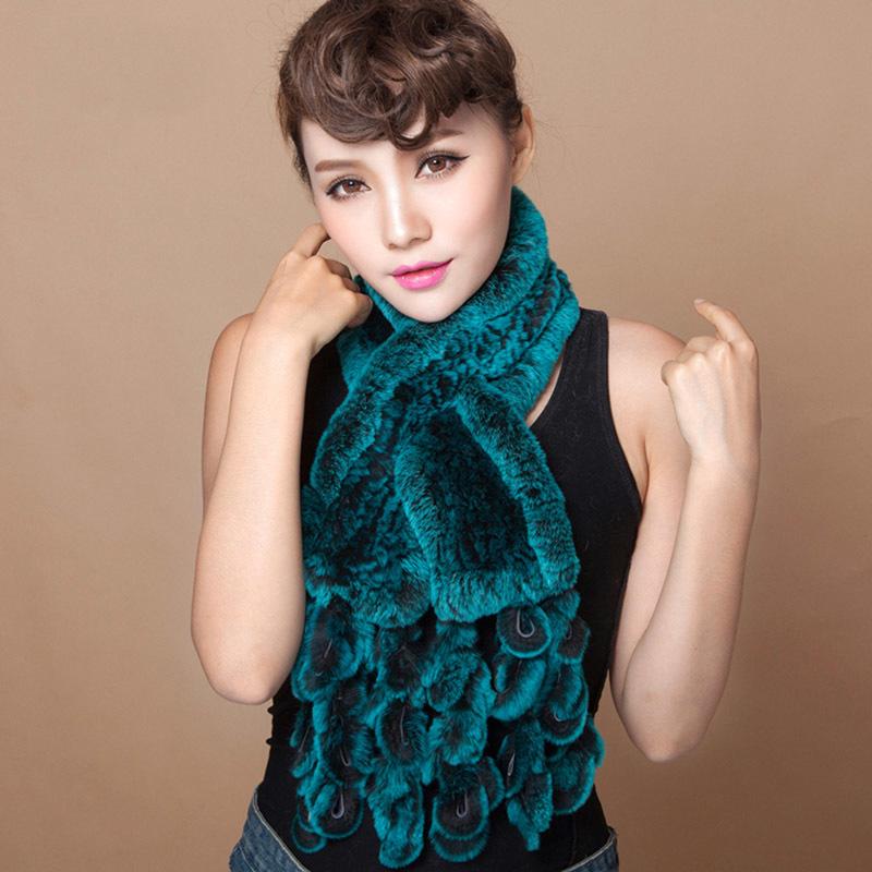knitted rabbit fur scarf rabbit (1)