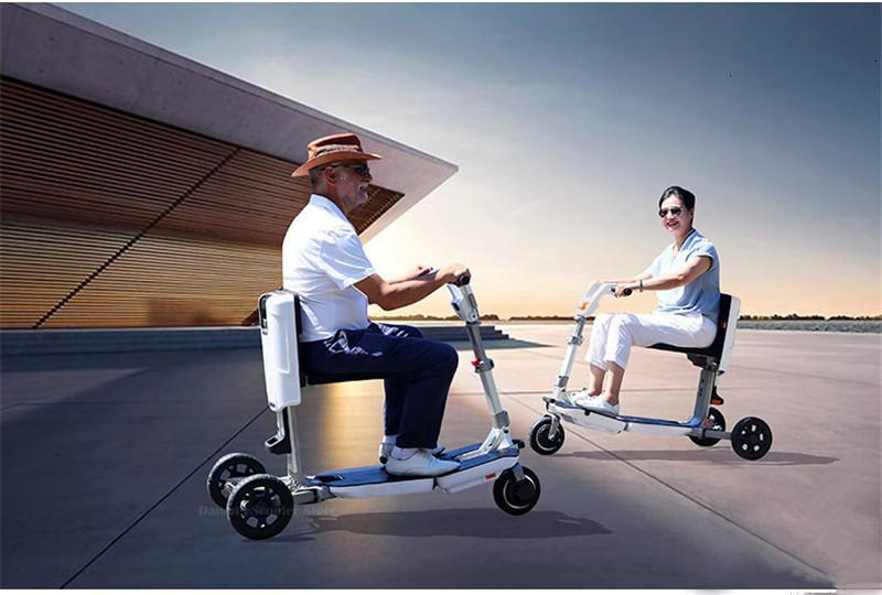 Disability Electric Scooter 3 Wheel Electric Scooter For Elderly Disabled Folding Electric Wheelchair (27)