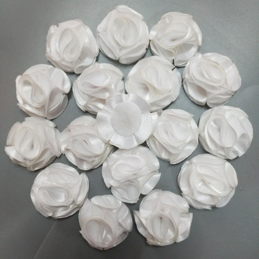 """Ramo Boda Corsage 10 Flores de Satén Rosa De Oro 4d hecha a mano 2/"""" artesanía."""