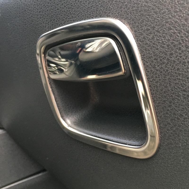 ABS Carbon Fiber Copilot Storage Box Sequin Trim For Ford Explorer 2016-2018
