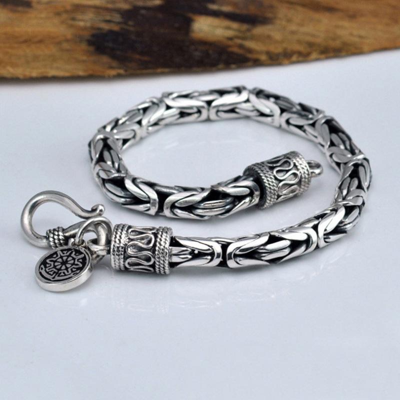V-YA-Genuine-100-Real-Pure-925-Sterling-Silver-thick-Men-bracelet-Safe-Pattern-Bracelet-Free (3)