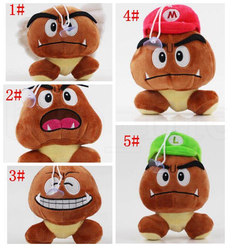 13 cm Super Mario Bros Plüschtier Weiche Puppe Goomba Mit Mario Luigi Hut Puppe Goomba Plüsch Gefüllte Puppen 5 design KKA5884 p