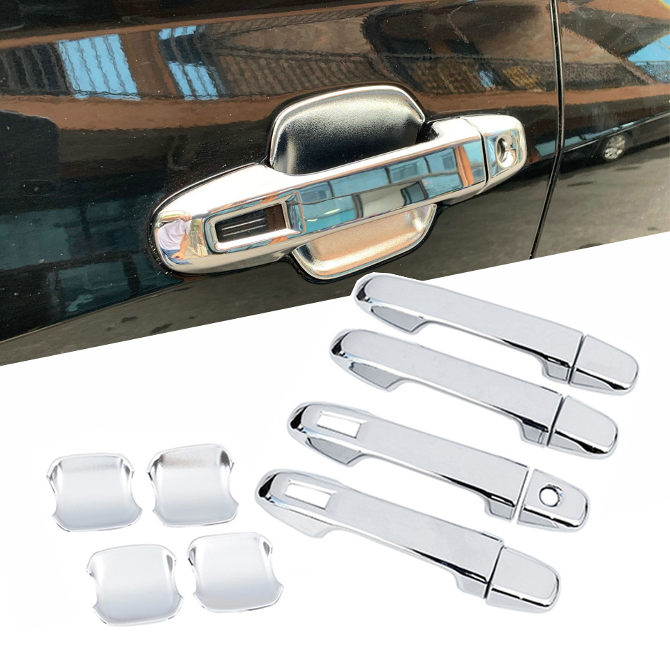 Chrome Door Handle Cover Trim For Mitsubishi Lancer Smart Key Hole Car Molding