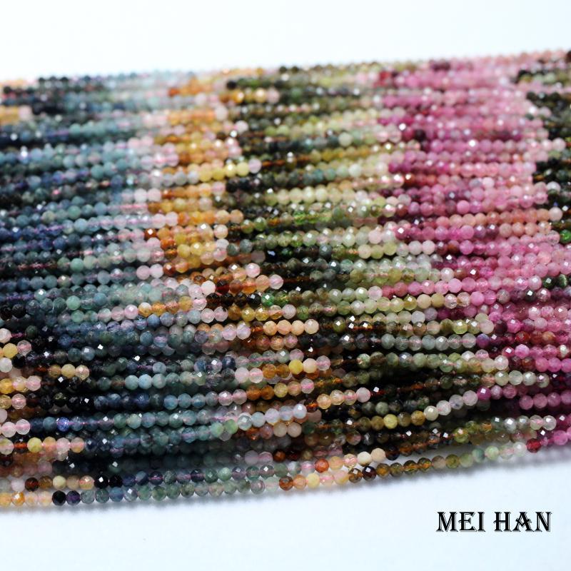 Natural Morganita facetado granos flojos accesorios de bricolaje curación Piedra preciosa al por mayor