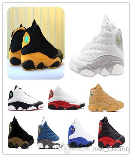 melo 13 back to school 13s He Got Game Phantom Olive Chicago bred Basketball Shoes XIII Wheat black University red gold sports sneakers