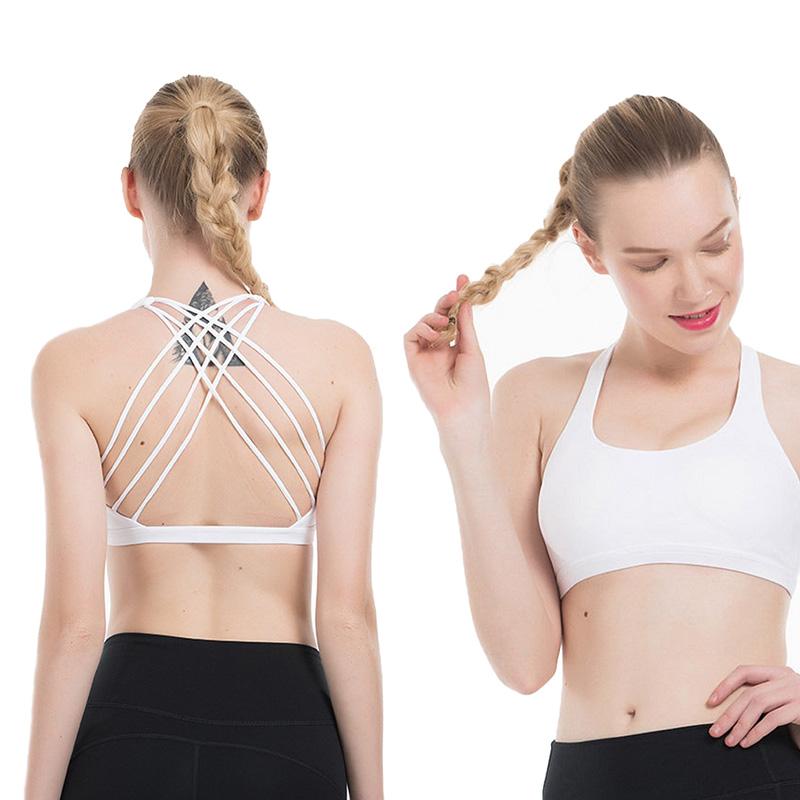 Fashion Soutien-Gorge Sport Débardeur Tank Top Bustier Crop Top Femme Yoga Bralette T Shirt