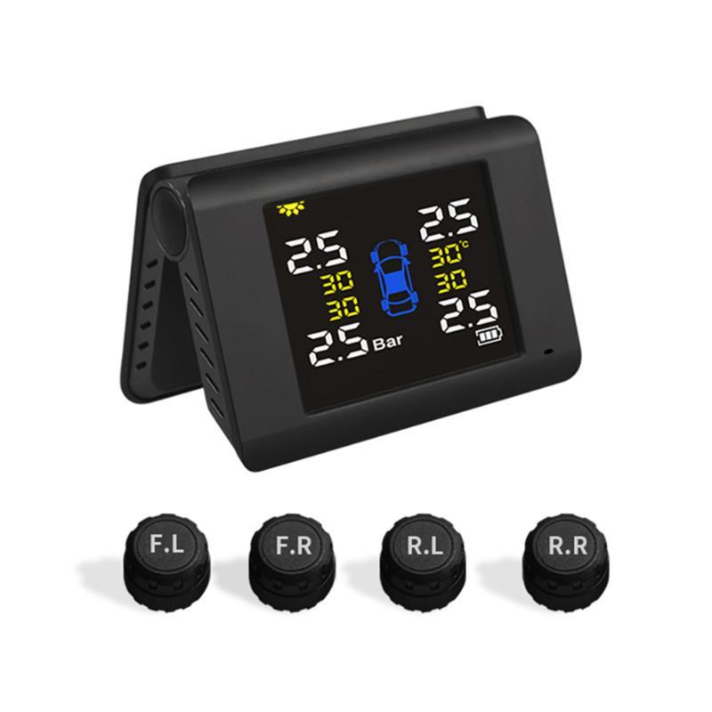 Energ/ía Solar Tmps Digital LCD Pantalla a Color con 4/sensores internos KUNFINE Coche inal/ámbrico presi/ón de los neum/áticos Sistema de vigilancia 5