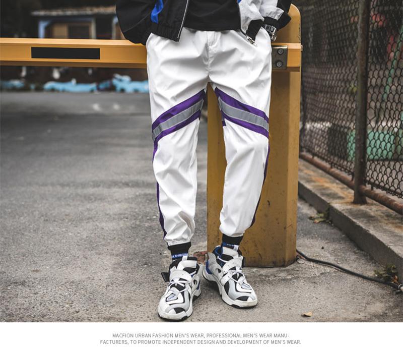 Loose Hip Hop Cargo Pants Men Camouflage Patchwork Harem Mens Trousers Streetwear (62)