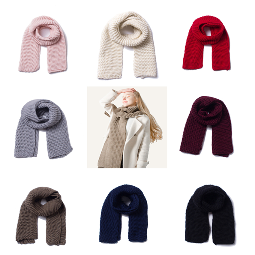 B8 Chunky Super Soft Warm Sweater Yarn Knit Black Infinity Winter Scarf