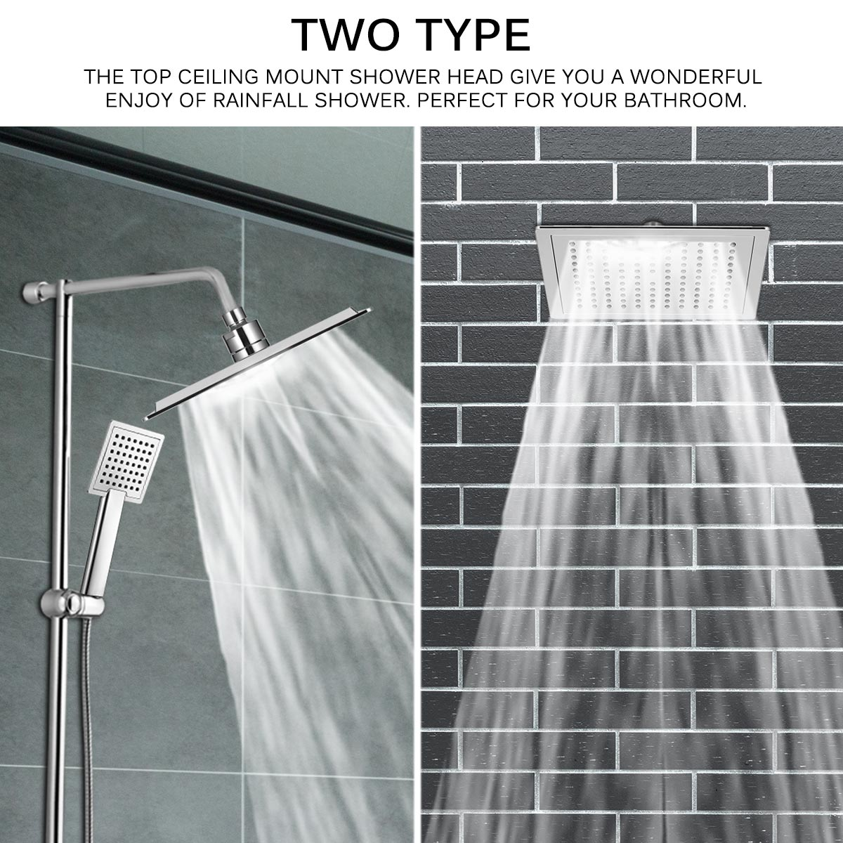 2019 12 Inch Stainless Steel Rainfall Shower Head Ultra Thin Chrome Finished Bathroom Shower Head Square Type Modern Bathroom Tool From Suozhi1993