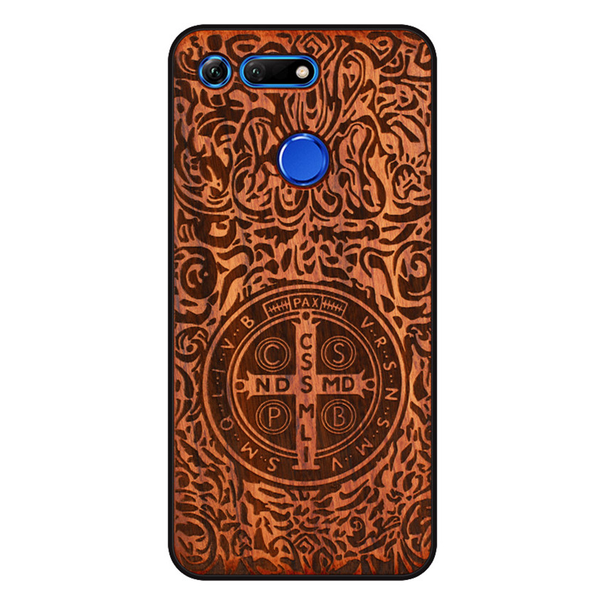 BOOGIC Original Wood Phone Case For Huawei Honor View 20 V20 V10 Wood +TPU Cover For Honor 8x Play 10 Ultra-Thin Wooden Coque (11)