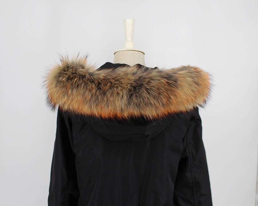 genuine raccoon fur hoody trim collar (1)
