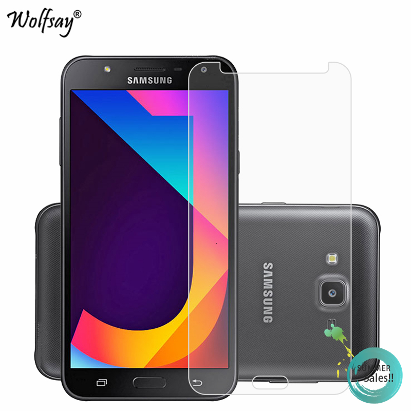 2 PCS 0.26mm 9H 2.5D Tempered Glass Film for Galaxy J7 //J701 Touch Panel Replacement Color : Grey