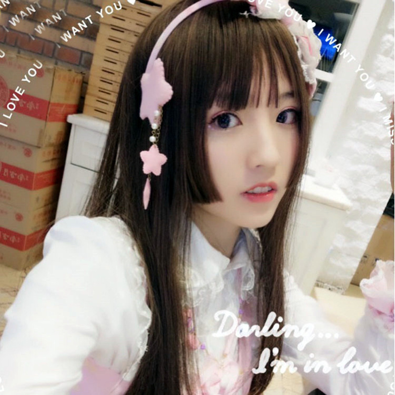 Wig Woman Long Straight Hair Woman Hairstyle Lolita Soft Sister Cosplay Japan Promise Same Day Deliver Goods